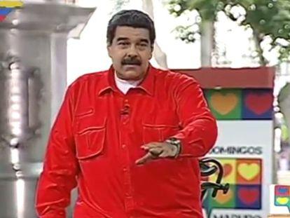 Nicolás Maduro, presidente de Venezuela, mientras suena la versión de 'Despacito'.