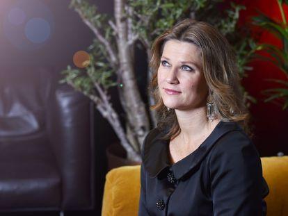 La princesa Marta Luisa de Noruega en una entrevista en Oslo en 2018.
