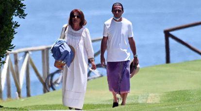 Anna Botella y su marido Jose Maria Aznar en Marbella