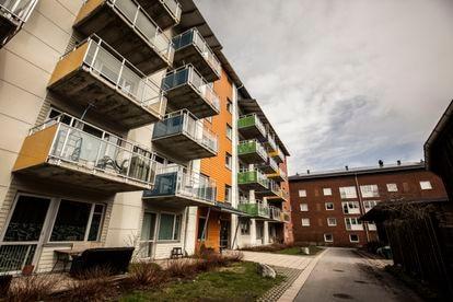 Algunos de los apartamentos reheabilitados en Ålidhem, el pasado 11 de mayo.
