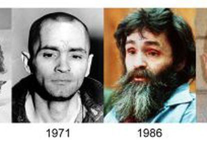 Charles Manson a lo largo de los últimos 40 años.
