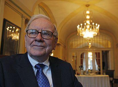Warren Buffet, durante su reciente visita a Madrid.