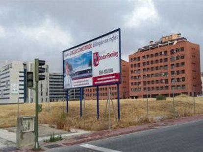 La parcela pública donde se quiere construir el colegio Doctor Fleming.
