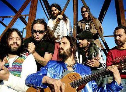Miembros del grupo musical Elbicho, que actuó anoche en el festival Metrorock de Madrid