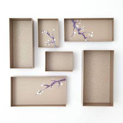 Set de cajas Hikidashi Box, diseñadas por Marie Kondo.