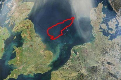 Ubicación del reino sumergido de Doggerland, en el mar del Norte.