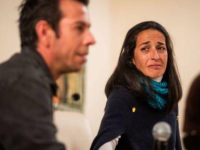 Ángel Cruz y Patricia Ramírez, padres del pequeño Gabriel, este miércoles en una rueda de prensa en Almería. En vídeo, las declaraciones de ambos.
