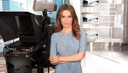 Carme Chaparro, presentadora de informativos Tele-5