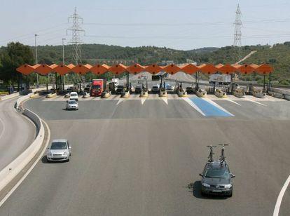 Un peaje en una carretera de la red española.