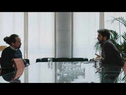 Iglesias y Gonzo durante un momento de la entrevista en 'Salvados' emitida este domingo.