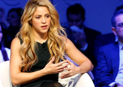Shakira, durante un encuentro del Foro Económico Mundial en Davos, Suiza.