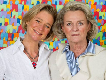 Delphine Boël y Sybille de Selys Longchamps, en Bélgica, en 2012.