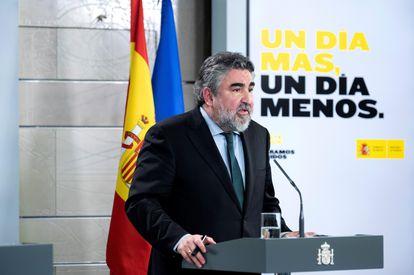 José Manuel Rodríguez Uribes, durante la rueda de prensa ofrecida hace una semana.