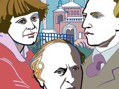 Marina Tsvetàieva, amb Alexander Blok i Josep Brodsky..