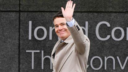 El nuevo presidente del Eurogrupo, el irlandés Paschal Donohoe, en una imagen tomada en Dublín el pasado 27 de junio.