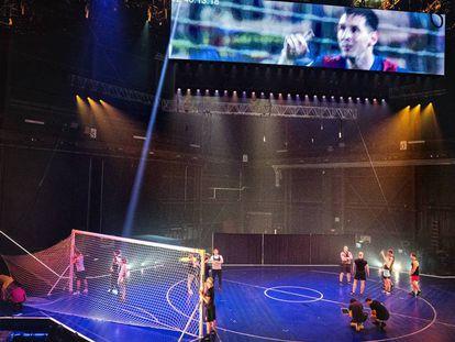 Un momento de la actuación del Cirque du Soleil.