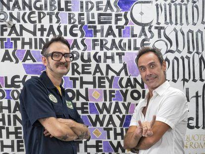 Ivan Castro y Oriol Miró, profesores de caligrafía en BCN Visions.