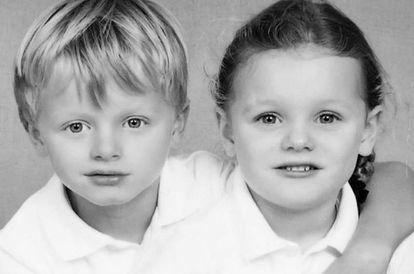 Jacques y Gabriella de Mónaco, en una imagen publicada por su madre Charlene en su Instagram.