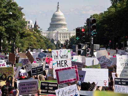 'Marcha de las Mujeres' celebrada el 2 de octubre ante el Capitolio, en Washington, en defensa del derecho al aborto.