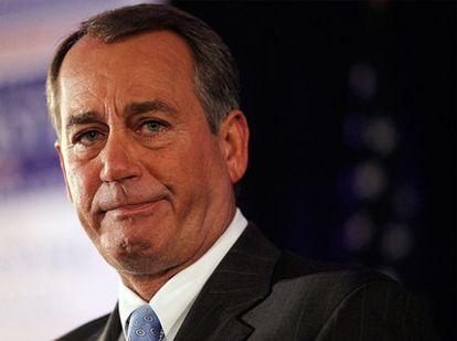 John Boehner, durante su discurso tras conocer los resultados de las elecciones.