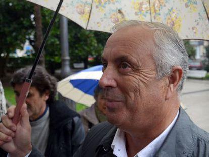 Pachi Vázquez, a su entrada al Tribunal Superior