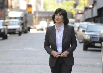 La periodista Christiane Amanpour durante una sesión en Nueva York.
