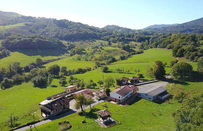 Vista de la aldea de El Mortorio, en Asturias.