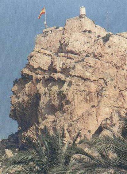 La 'cara del moro' del castillo de Santa Bárbara, en Alicante.