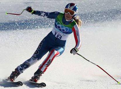 Lindsay Vonn, durante la prueba de descenso.