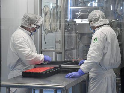 El laboratorio Liomont donde se envasan vacunas contra la covid-19 de AstraZeneca, en México el pasado 22 de febrero.