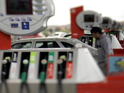 Una gasolinera de Cepsa en Madrid.