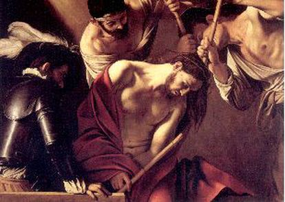 'The Crowning with Thorns' (1602-1603), canvas by Caravaggio in the Banco Popolare in Vicenza.