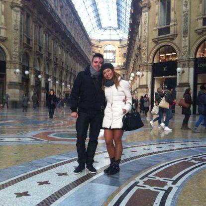 José Manuel Ramírez y Pilar Otero, en Milán.