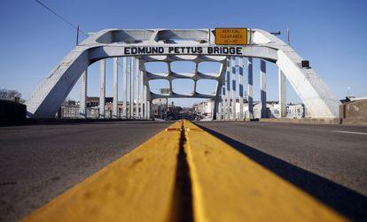 El puente Edmund Pettus de Selma, Alabama, en la actualidad.
