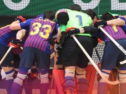 El equipo de hockey del Barça.