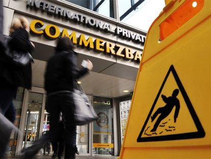 Sucursal bancaria del Commerzbank en Francfort.