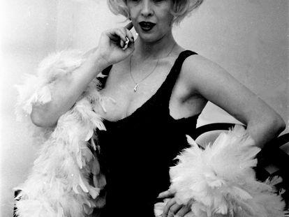 La actriz Libertad Leblanc, en una sesión de fotos en 1978.