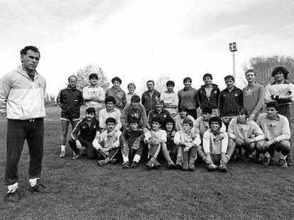 Los chicos del Castilla, en novimebre de 1983.