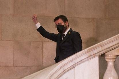 Pere Aragonès, tras superar la investidura.