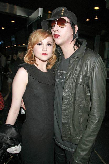 Evan Rachel Wood y Marilyn Manson en un estreno en Nueva York en septiembre de 2007.