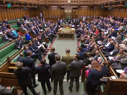 El Parlamento británico, este lunes.