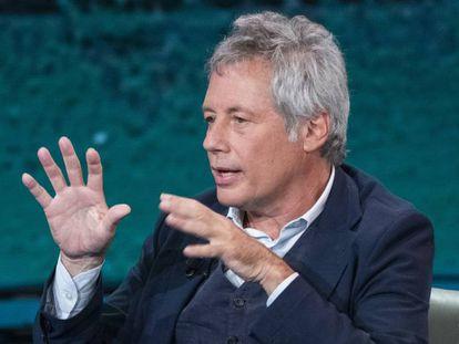Alessandro Baricco, en un programa de televisión en octubre.