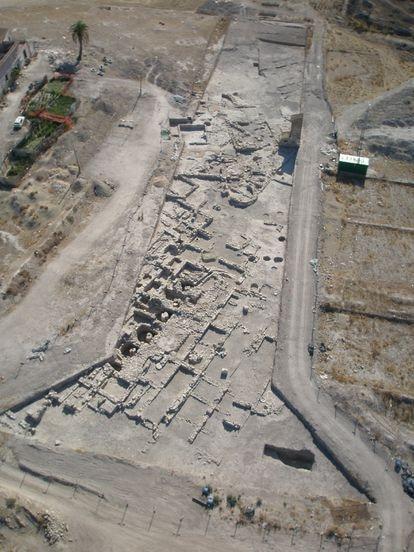 Vista aérea de la villa romana localizada en El Cortijo de los Robles (Jaén).