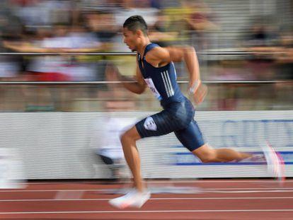 Van Niekerk, en una carrera de 400m.