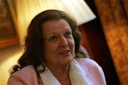 Helga Schmidt, intendente del Palau de les Arts, en el hotel Astoria en 2005.