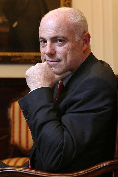 José Manuel Campa, antes de la entrevista.