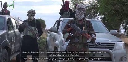 Fotograma de un vídeo difundido por Boko Haram en 2019 en el que rechazaba las victorias militares que ha anunciado el Ejército nigeriano.