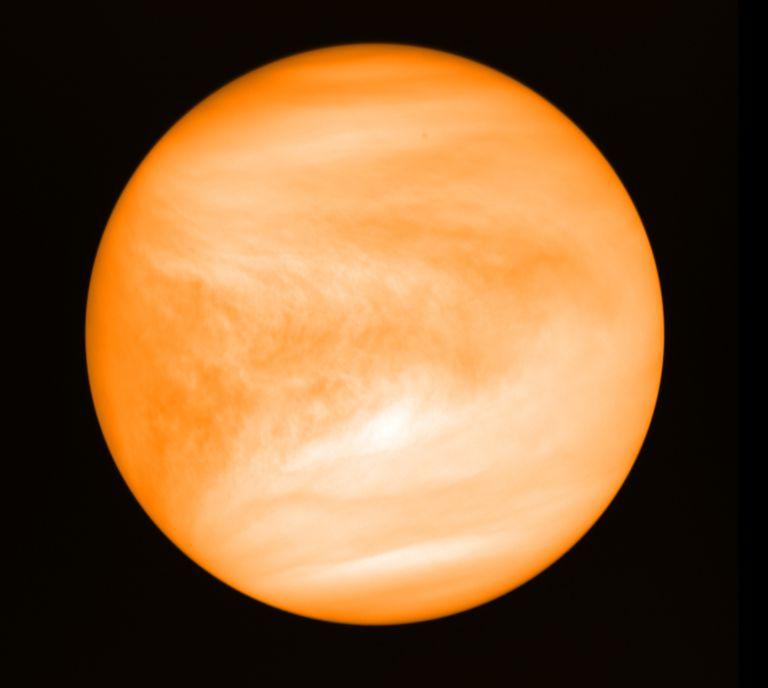 Imagen de Venus tomada por la agencia espacial japonesa JAXA.