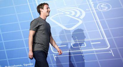 Mark Zuckerberg, en el MWC.