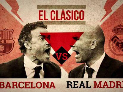 Luis Enrique y Zidane, los técnicos del clásico.